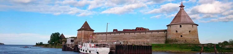Отметка на туристической карте – крепость Орешек