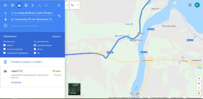 Как проехать в Крепость Орешек без пробок?